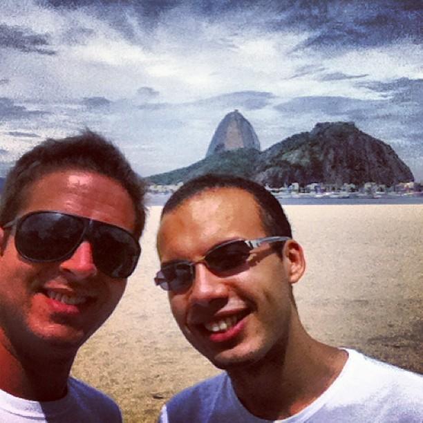 Eu e Filipe, de Sampa, aqui no Rio